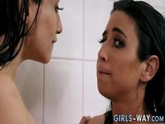 Genial video category lesbian (375 sec). Horny lesbians rubbing.