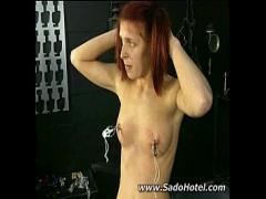 XXX film category bdsm (314 sec). Hard Nipple clip.
