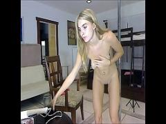 Watch movie category blonde (445 sec). Fitness stripeer girl.