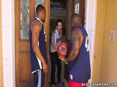 XXX amorous video category cumshot (315 sec). Horny MILF takes on 2 basketball studs on BlackOnMoms (xa15362).