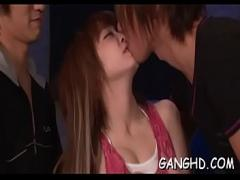 Full sensual video category asian_woman (308 sec). Explicit japanese gang bang.