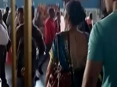 Super sexual video category sexy (146 sec). Spying very hot desi aunty on railway station.