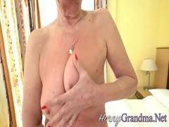 Adult tube video category mature (375 sec). Tongued old lady facial.