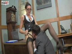 18+ youtube video category bdsm (140 sec). Boss Lady Pussy Service with Sadie Holmes Lance Hart Femdom.
