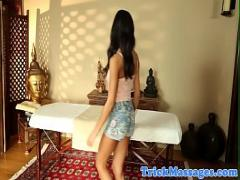 Super sensual video category massage (372 sec). Busty MILF and cute teen fucked by masseur.