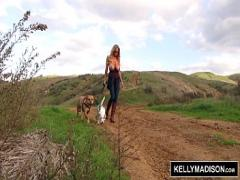 Sexy pornography category milf (694 sec). KELLY MADISON - Fingering Outdoors.
